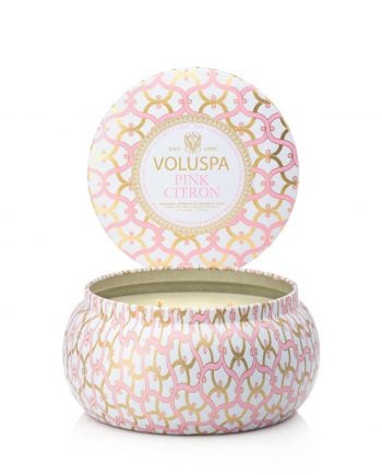 Voluspa Tin Candle 2-wick Pink Citron