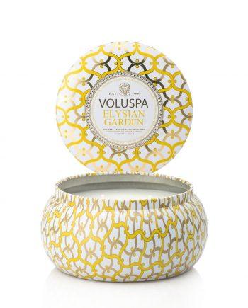 Voluspa Tin Candle 2-wick Elysian Garden