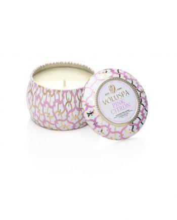 Voluspa Tin Candle Pink Citron