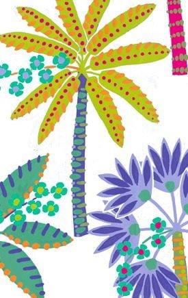 Caspari Servetter Paradise Palms White
