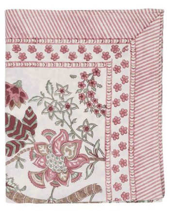 Chamois floral ruby cotton tablecloth