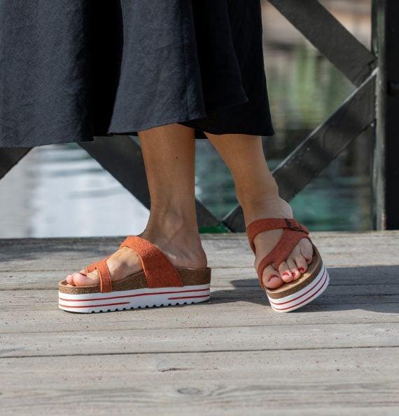 Shepherd Marinella sandal orange