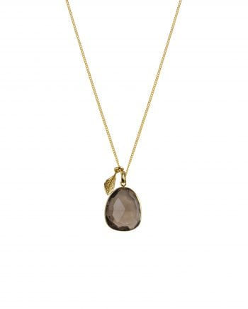 Syster P Glam Glam Necklace Gold Smokey Quartz