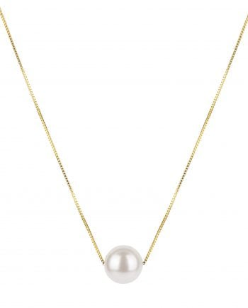 Syster P halsband pearly long necklace gold