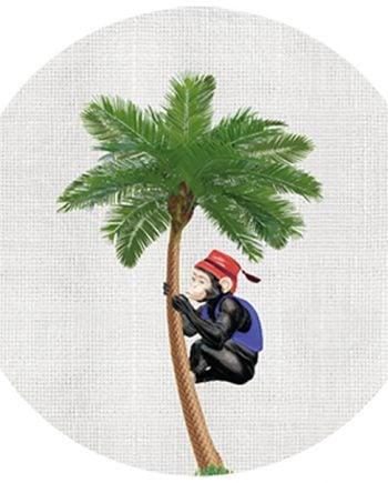 scarameo glasunderlägg colonial palmtree 1
