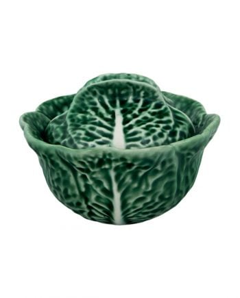 Bordallo Pinheiro Cabbage Skål med lock 0.2L Grön