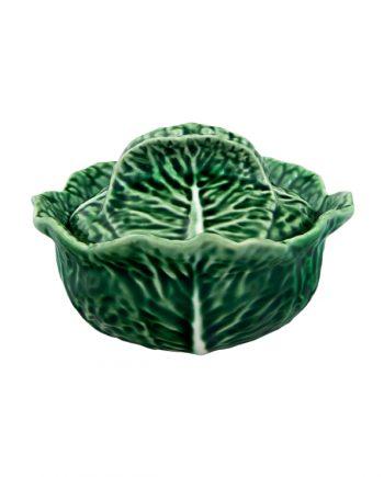 Bordallo Pinheiro Cabbage Skål med lock 0.4L Grön