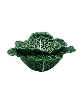 Bordallo Pinheiro Cabbage Skål med lock 2L Grön