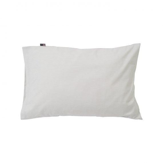 Lexington baby pin point påslakan Gray/White 100x130 cm