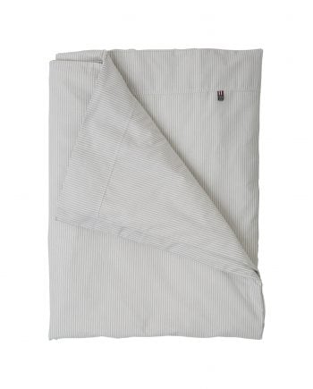 Lexington baby pin point påslakan Gray/White 100x130 cm