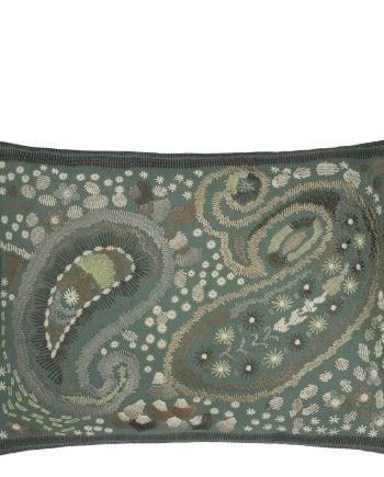Designers Guild Kudde Uchiwa Teal Cushion