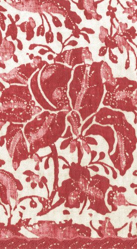 Caspari Servetter Plantation print vintage red