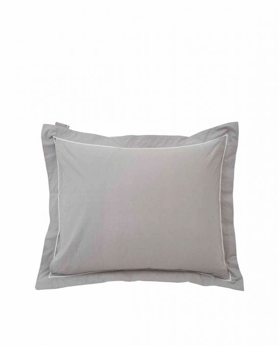 Lexington Hotel Percale Gray/White Pillowcase