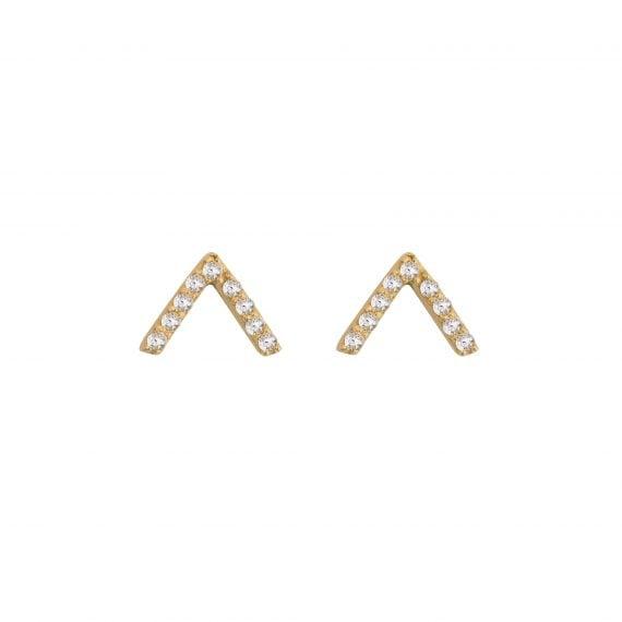 Örhänget är i sterling silver pläterat med 18K guld.