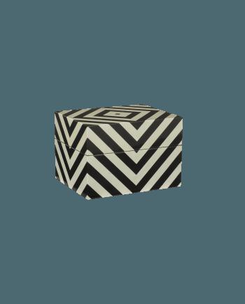 Oi Soi Oi Box med ränder svart/vit