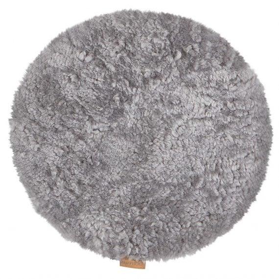 Shepherd fårskinnsdyna idag 38 cm granit