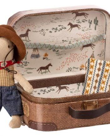 Maileg Cowboy i resväska