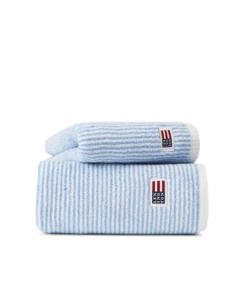 Lexington Original Towel White/Blue Striped