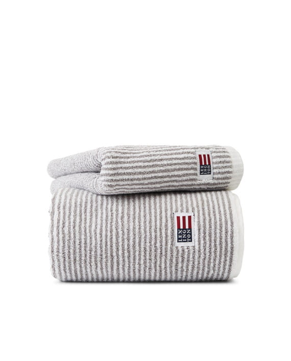 Lexington Original Towel White/Gray Striped