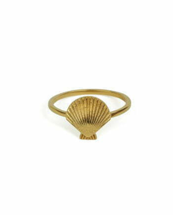 Syster P Ring Beaches Shell Gold