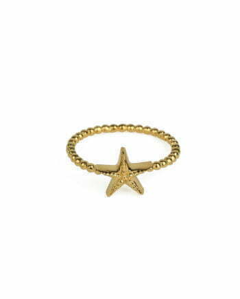 Syster P Ring Beaches Starfish Gold