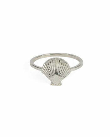 Syster P Ring Beaches Shell Silver