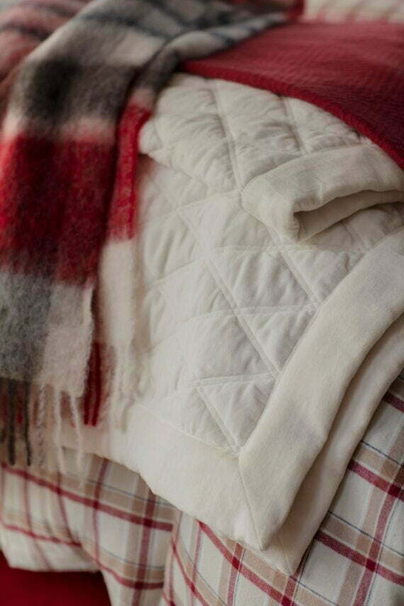 Lexington bedspread quilted velvet